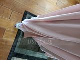 A-Line/Princess V-neck Floor-Length Chiffon Bridesmaid Dress With Ruffle Split Front (007116659)