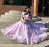 Ball-Gown/Princess V-neck Floor-Length Tulle Wedding Dress With Beading Sequins (002119790)