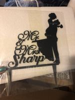 "Personalized ""Mr. & Mrs.""/Happy Couple Acrylic Cake Topper (118251099)"