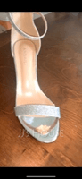 Women's Leatherette Sparkling Glitter Chunky Heel Sandals Mary Jane With Buckle (047146114)