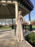 Scoop Neck Floor-Length Chiffon Prom Dresses (272214443)
