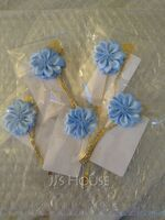 Romantic Satin Boutonniere (Sold in a single piece) - (123182818)