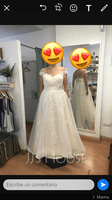 Scoop Neck Sweep Train Tulle Lace Wedding Dress With Ruffle Lace (265255413)