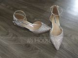 Women's Sparkling Glitter Kitten Heel Closed Toe Pumps With Sparkling Glitter (047190323)