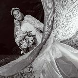 Ball-Gown/Princess Illusion Court Train Lace Wedding Dress (002186376)