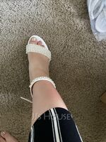 Women's Patent Leather Sandals With Rhinestone Pearl (047251644)