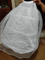 Women Polyester 2 Tiers Petticoats (037120405)