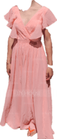 A-Line V-neck Floor-Length Chiffon Bridesmaid Dress (007233675)