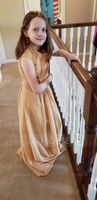 A-Line Scoop Neck Floor-Length Chiffon Junior Bridesmaid Dress With Ruffle Lace (009148408)