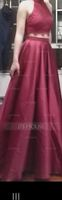 Ball-Gown Scoop Neck Floor-Length Satin Prom Dresses (018146386)