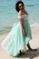 Off-the-Shoulder Asymmetrical Chiffon Prom Dresses With Sequins (272236726)
