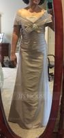 Trumpet/Mermaid Strapless Floor-Length Taffeta Mother of the Bride Dress With Ruffle (267208622)