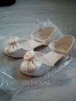 Girl's Closed Toe Leatherette Flower Girl Shoes With Bowknot (207220334)