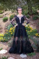 Scoop Neck Floor-Length Tulle Prom Dresses (272214509)