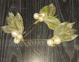 Romantic Rhinestone Hairpins With Venetian Pearl (Set of 6) (042230475)