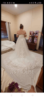 Ball-Gown/Princess Off-the-Shoulder Chapel Train Tulle Lace Wedding Dress With Sequins (002215655)