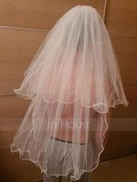 Two-tier Fingertip Bridal Veils With Scalloped Edge (006036613)