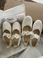 Girl's Closed Toe Leatherette Flat Heel Flower Girl Shoes With Velcro Flower (207132901)