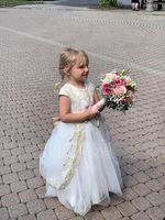 Ball-Gown/Princess Court Train Flower Girl Dress - Tulle/Lace Short Sleeves Scoop Neck With Bow(s) (010207215)
