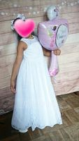 A-Line/Princess Floor-length Flower Girl Dress - Satin/Lace Sleeveless Scoop Neck With Sash/Bow(s) (010136577)