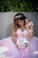 Girly Round Fabric Bridal Bouquets/Bridesmaid Bouquets - (123114822)
