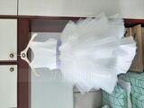Ball-Gown/Princess Asymmetrical Flower Girl Dress - Tulle Sleeveless Scoop Neck With Sash/Beading (Detachable sash) (010236828)