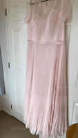 A-Line Scoop Neck Floor-Length Chiffon Evening Dress (017186130)