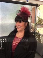Ladies' Elegant Cambric With Feather Fascinators/Kentucky Derby Hats (196124683)