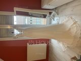 A-Line V-neck Court Train Chiffon Wedding Dress (002118434)