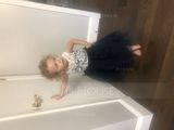 A-Line Knee-length Flower Girl Dress - Tulle Sleeveless Scoop Neck With Lace (010090292)