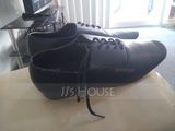 Men's Leatherette Ballroom With Lace-up Dance Shoes (053107717)