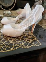 Women's Silk Like Satin Stiletto Heel Peep Toe Pumps (047096507)