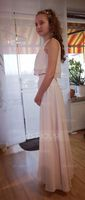 Scoop Neck Floor-Length Chiffon Bridesmaid Dress With Cascading Ruffles (266195995)