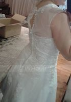 Ball-Gown/Princess Illusion Sweep Train Organza Tulle Wedding Dress With Beading Sequins (002054358)