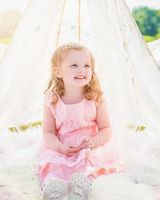 A-Line Knee-length Flower Girl Dress - Tulle/Lace Sleeveless Scoop Neck With Bow(s) (010092148)