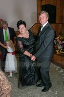 A-Line/Princess V-neck Floor-Length Tulle Mother of the Bride Dress With Lace Beading Sequins (008024566)