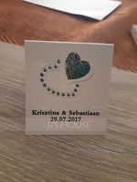 Personalized Heart design Hard Card Paper Matchboxes (Set of 50) (118031625)