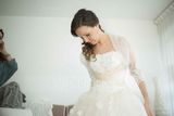 Lace Tulle Wedding Wrap (013061278)