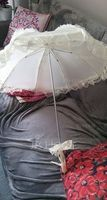Vintage Style Plastic/Stainless Steel/Polyester/Lace Wedding Umbrellas (051251070)