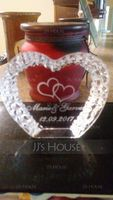 Personalized Heart-shaped Crystal Cake Topper (118042957)