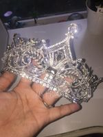 Ladies Gorgeous Rhinestone Tiaras With Imitation Crystal (042119190)
