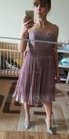 A-Line/Princess Sweetheart Knee-Length Chiffon Mother of the Bride Dress With Pleated (267183901)