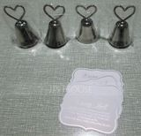 "Heart Topped ""Kissing Bell"" Metal Place Card Holders (Set of 4) (051024149)"