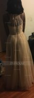 Scoop Neck Floor-Length Tulle Prom Dresses With Ruffle Bow(s) (272194677)