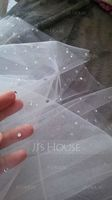 Two-tier Elbow Bridal Veils With Cut Edge (006039818)