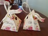 Pyramid Card Paper Favor Boxes With Ribbons (Set of 30) (050154089)