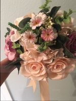 Hand-tied Satin Bridal Bouquets/Bridesmaid Bouquets - (123123094)