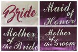 Personalized Charmeuse Bride Glitter Print Robes (248155104)