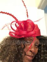 Ladies' Exquisite/Eye-catching/Romantic Cambric With Feather Fascinators/Kentucky Derby Hats (196169646)