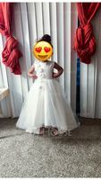 Asymmetrical Flower Girl Dress - Satin Tulle Sleeveless Scoop Neck With Bow(s) (269193766)